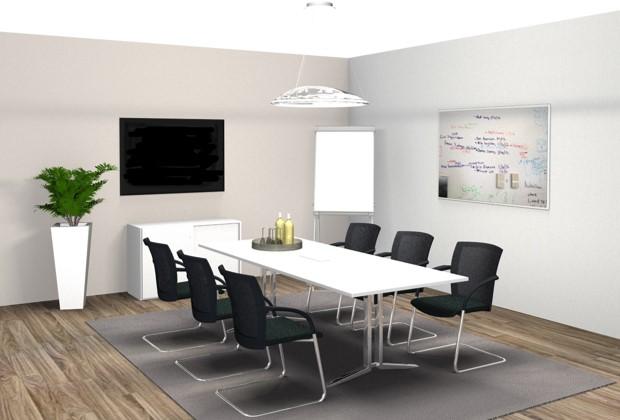 Meetingraum Büroeinrichtung Büro einrichten Konferenztisch