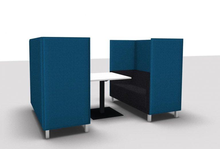 Büroeinrichtung Meetingecke Highback Sofa