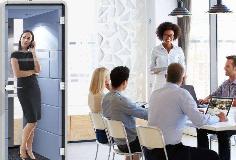 Phonebox Hush Raum-In-Raum Lösung Büroeinrichten