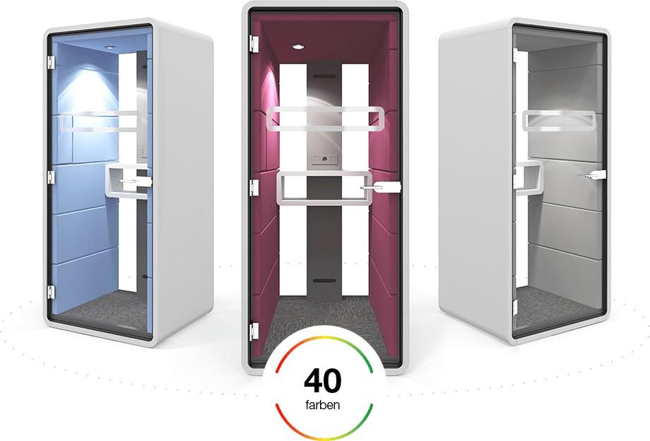 Telefonbox Hush Phone Box Farbschema Retreat Raum-in-Raum Lösungen Büroeinrichtung