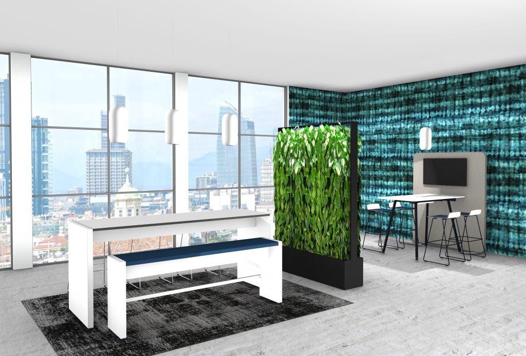 Moderne Büroeinrichtung Büro einrichten Büroausstattung Social Workspace Workbench
