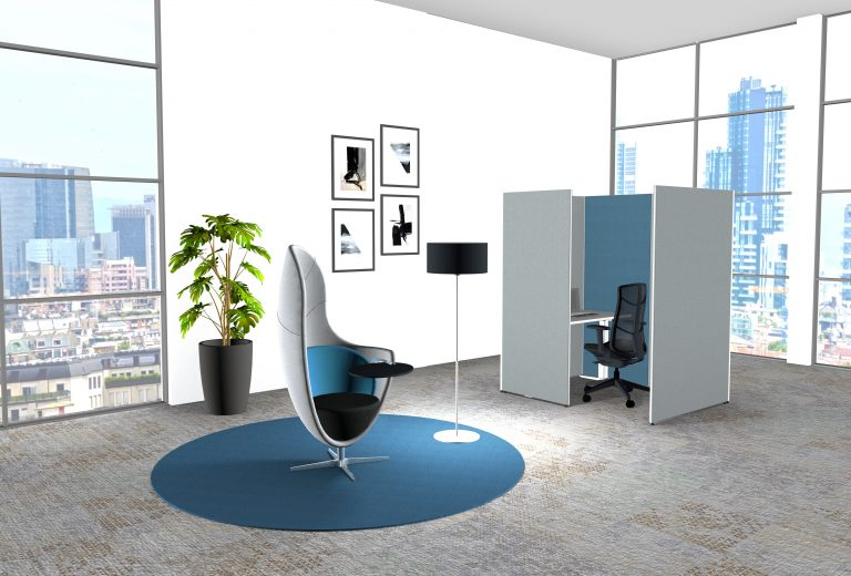 Büroeinrichtung Büro einrichten Büromodule Fokusarbeit Einzelarbeitsplatz space-Y