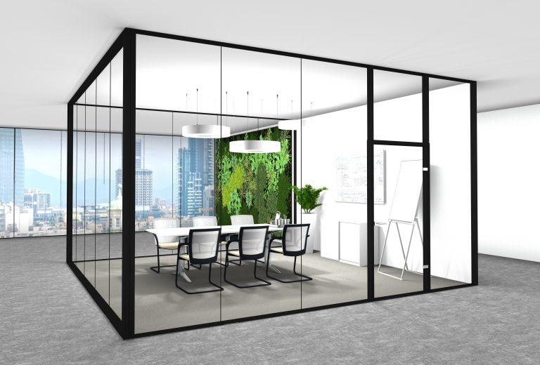 Büroeinrichtung Büro einrichten Moderner Meetingraum Konferenztisch Konferenztraum einrichten