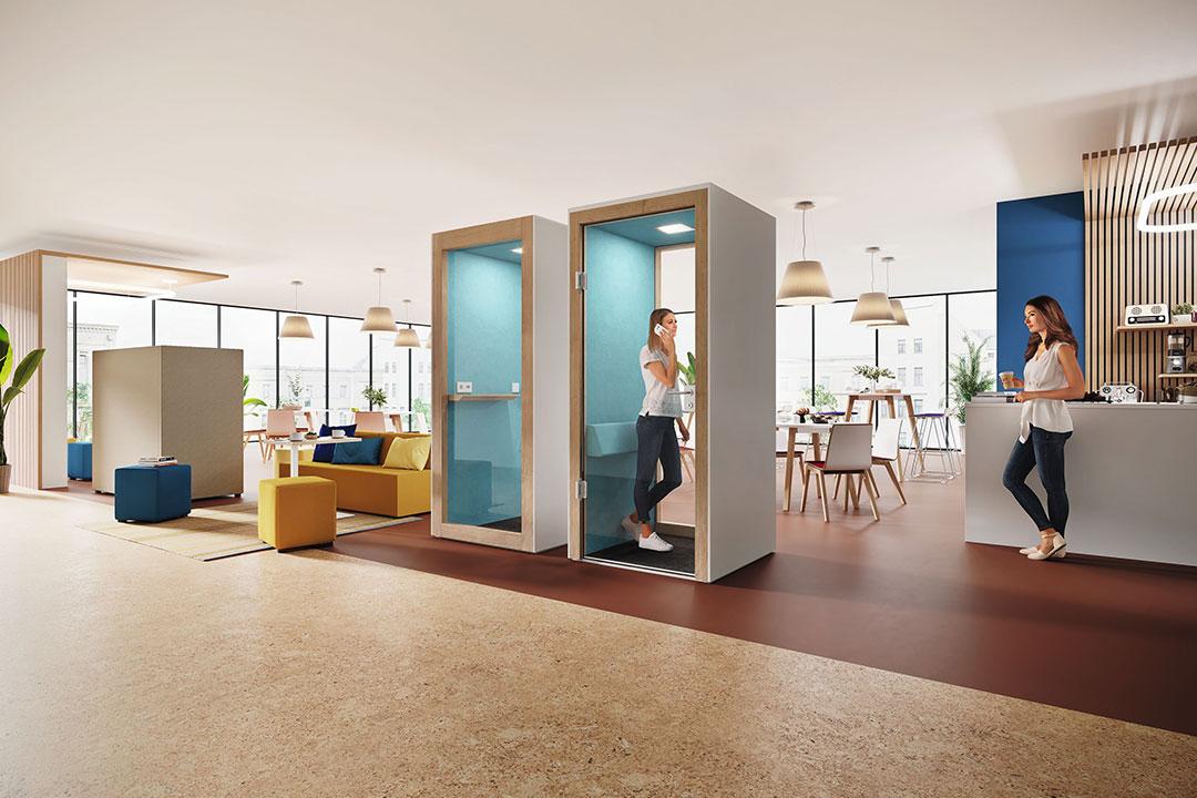Space-Y Hauser Moderne Bürokonzepte Open Space Büro new work Büroeinrichtung Telefonbox
